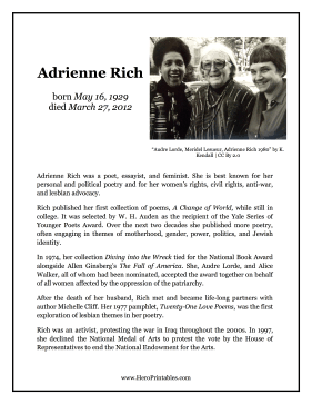 Adrienne Rich Hero Biography