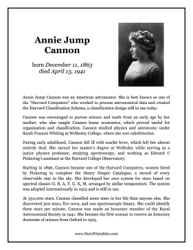 Annie Jump Cannon Hero Biography