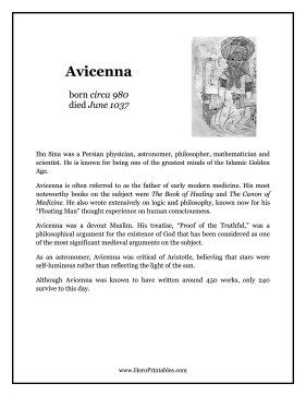 Avicenna Hero Biography