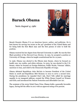 Barack Obama Hero Biography
