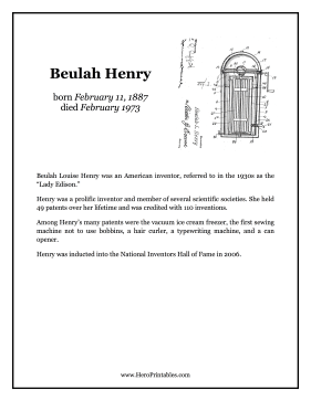 Beulah Henry Hero Biography