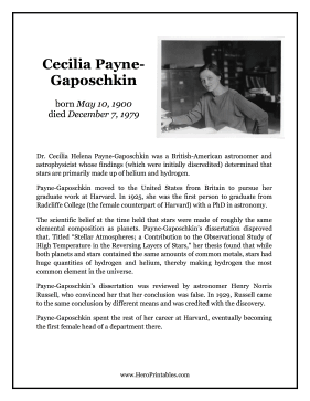 Cecilia Payne-Gaposchkin Hero Biography