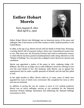 Esther Hobart Morris Hero Biography