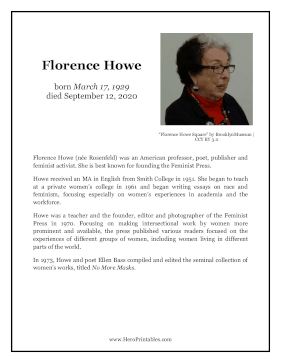 Florence Howe Hero Biography