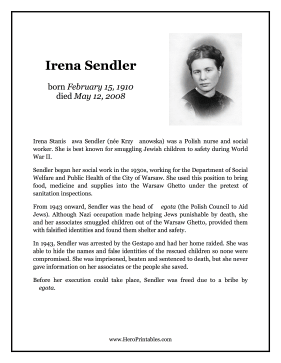 Irena Sendler Hero Biography