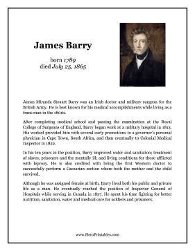James Barry Hero Biography