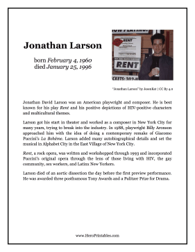 Jonathan Larson Hero Biography