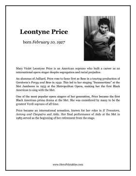 Leontyne Price Hero Biography