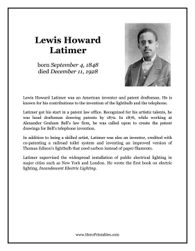 Lewis Howard Latimer Hero Biography