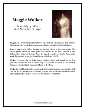 Maggie Walker Hero Biography