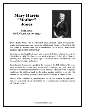 Mother Jones Hero Biography