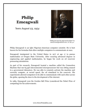 Philip Emeagwali Hero Biography