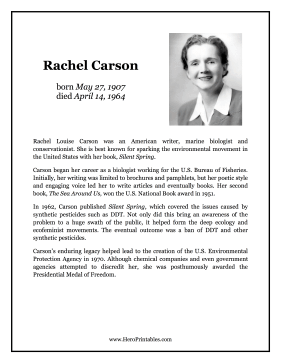 Rachel Carson Hero Biography