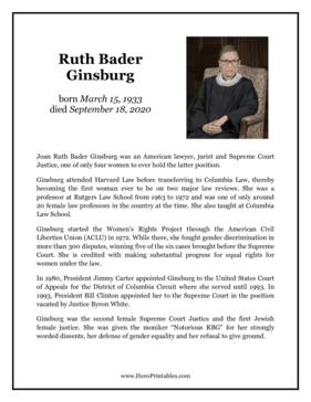 Ruth Bader Ginsburg Hero Biography