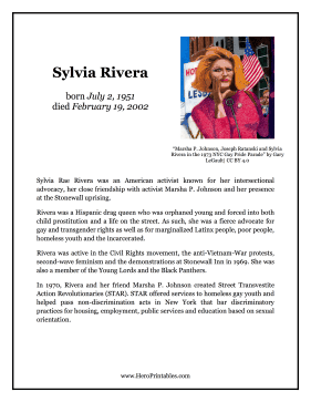 Sylvia Rivera Hero Biography
