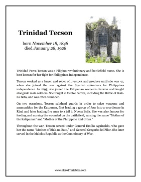 Trinidad Tecson Hero Biography