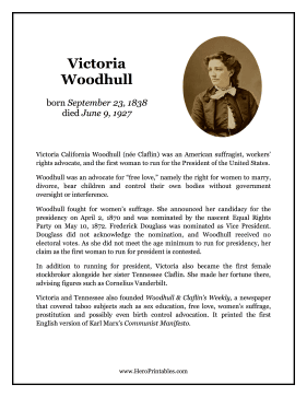 Victoria Woodhull Hero Biography
