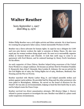 Walter Reuther Hero Biography