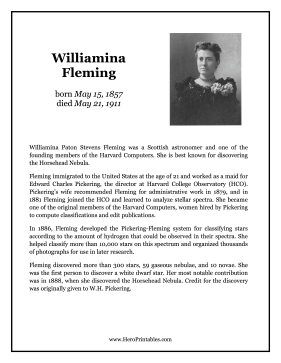 Williamina Fleming Hero Biography