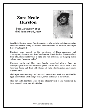 Zora Neale Hurston Hero Biography