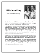 Billie Jean King Report Template