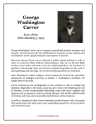 George Washington Carver Report Template
