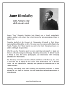Jane Dieulafoy Report Template