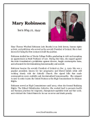 Mary Robinson Report Template