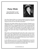 Patsy Mink Report Template