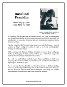 Rosalind Franklin Report Template