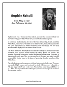 Sophie Scholl Report Template